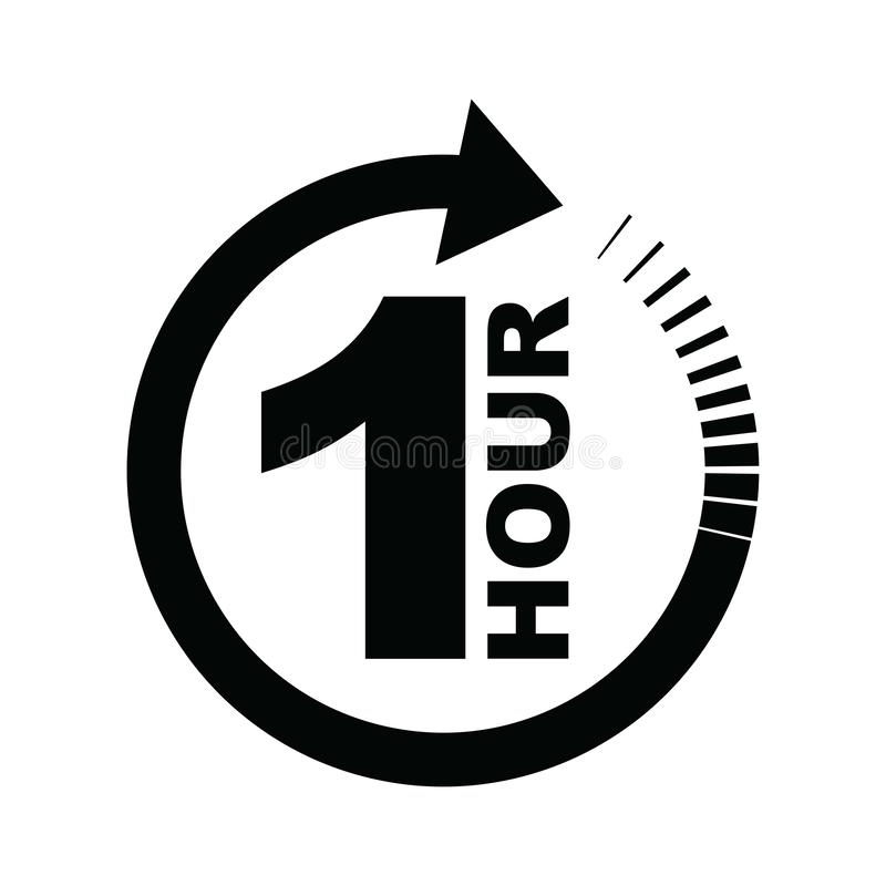 Free One Hour Arrow Icon Stock Photos - 136606203