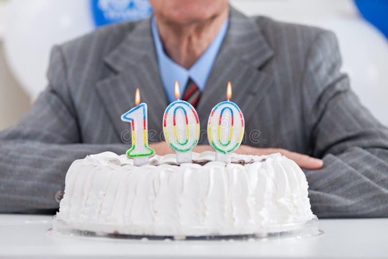 One hundred birthday royalty free stock photos