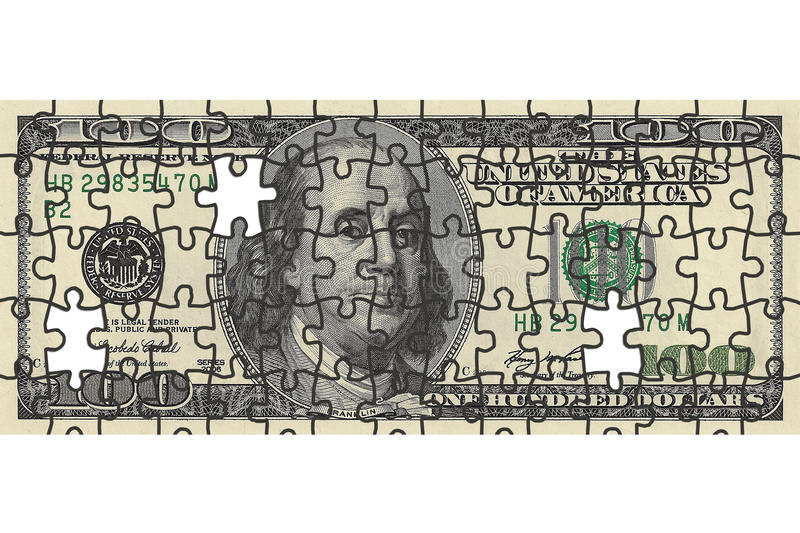 Download One Hundred Dollar Bill Puzzle Stock Photo - Image: 12280444