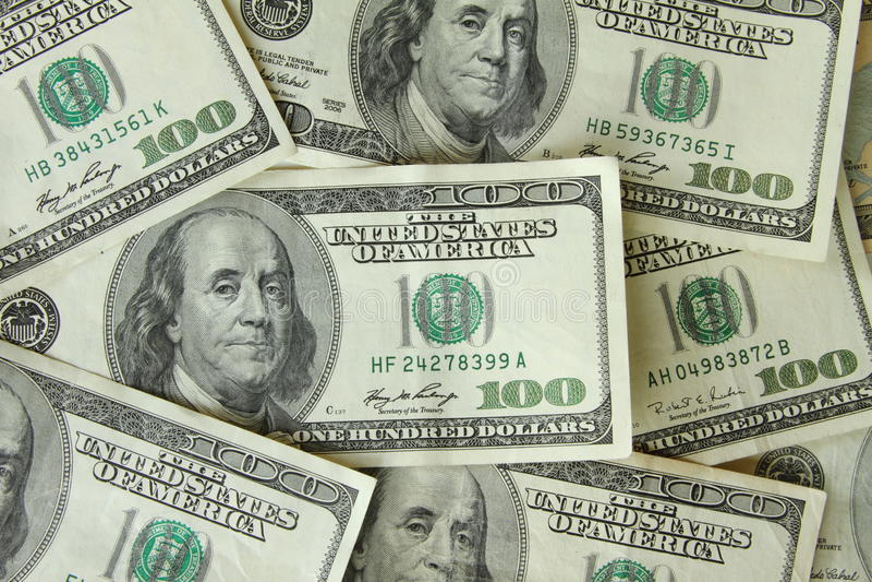 Download One Hundred Dollar Bills stock photo. Image of franklin - 14296966
