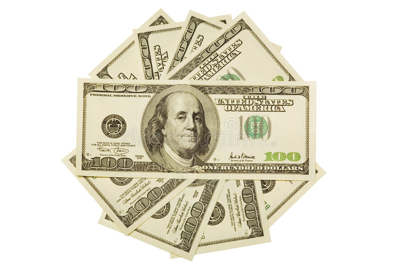 Download One hundred dollar bills stock photo. Image of number - 3939112