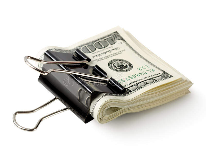Download One Hundred Dollar Bills In The Clip Stock Image - Image of credit, investment: 32679665