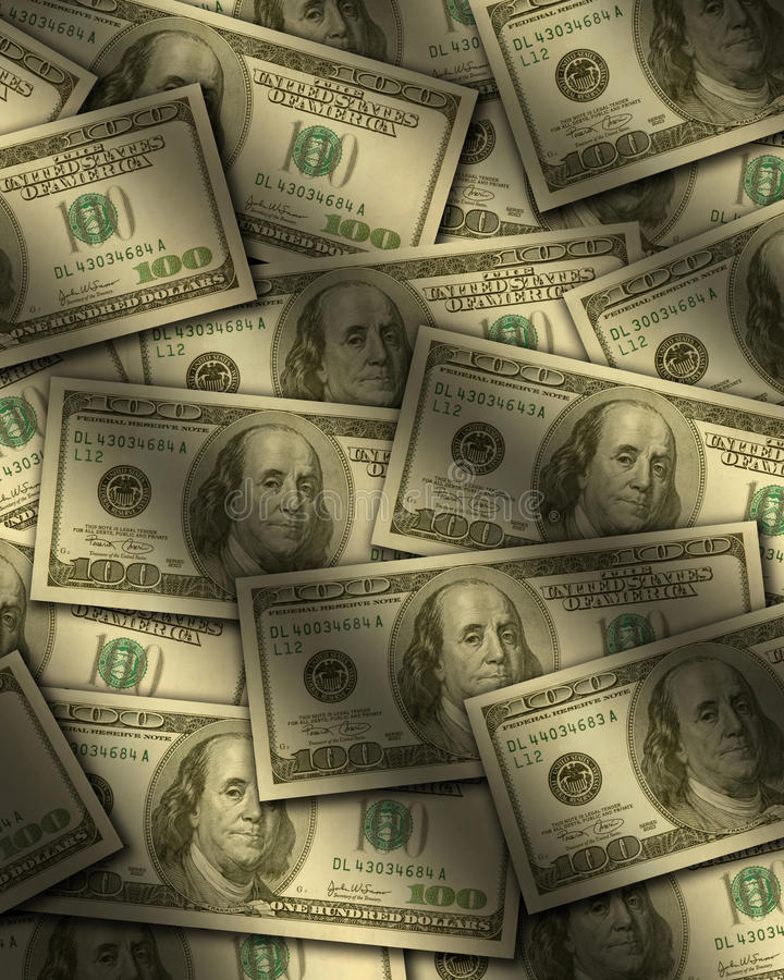 Download One Hundred Dollar Bills Lying Flat Stock Photo - Image: 11667520