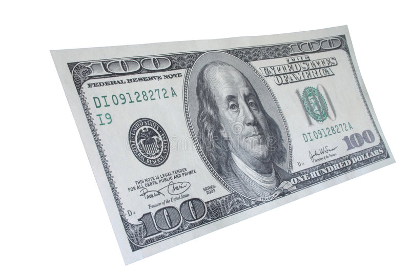 One hundred dollar note #5 royalty free stock images