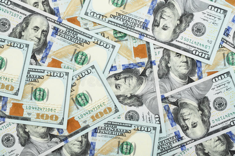 One hundred dollars. Background from recent one hundred dollars stock images