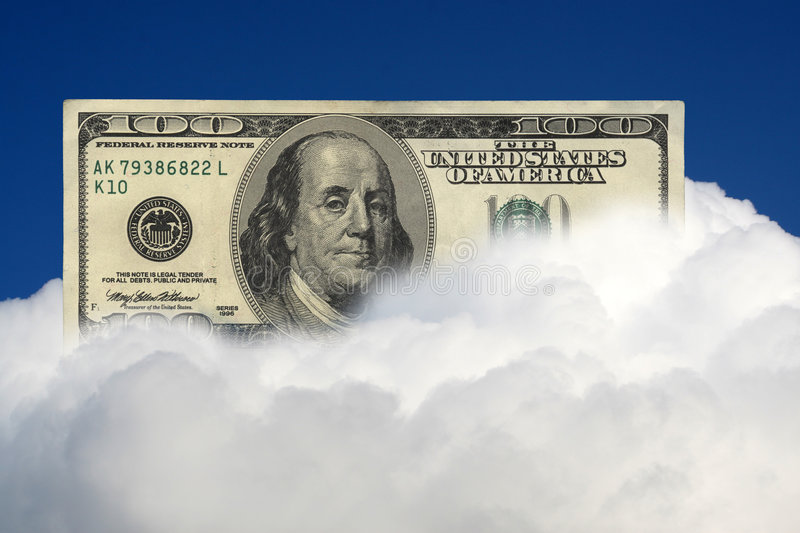 One hundred dollars banknote stock images