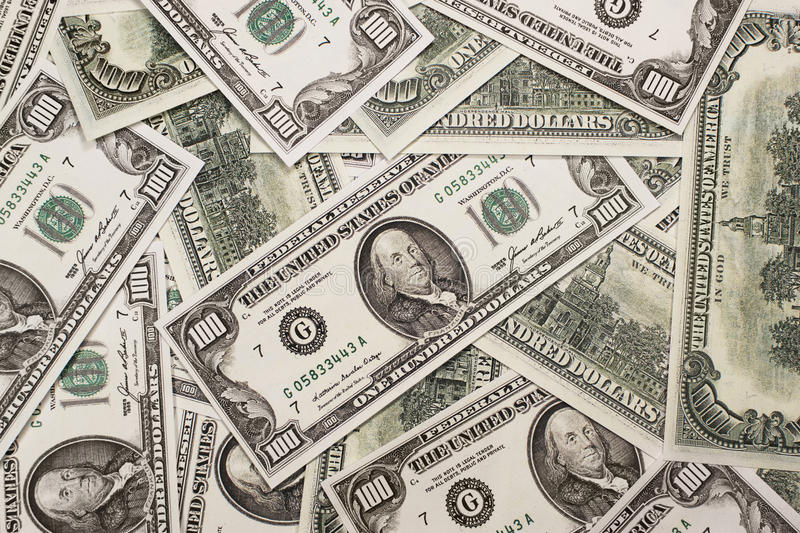 Download One Hundred Dollars Federal Reserve Notes Stock Photo - Image of corruption, bill: 27269380