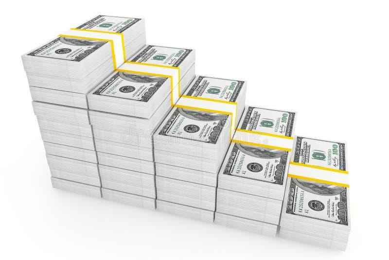 Download One hundred dollars stack stock illustration. Illustration of currency - 26788126