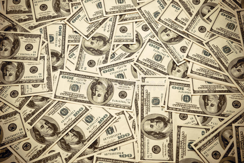 Download One hundred dollars US stock image. Image of loan, large - 26378427