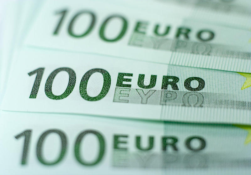 Download One Hundred Euro Banknotes stock image. Image of banknote - 2361455