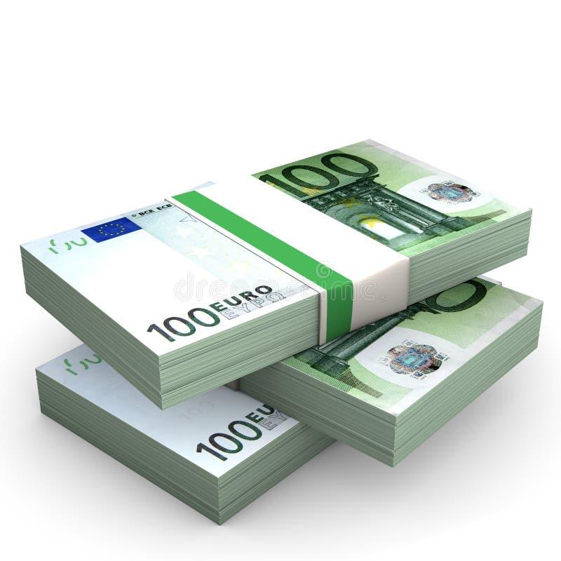 Euro Notes royalty free illustration