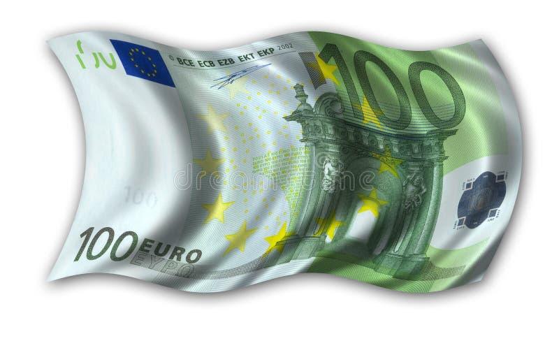 One Hundred Euro Flag Stock Image