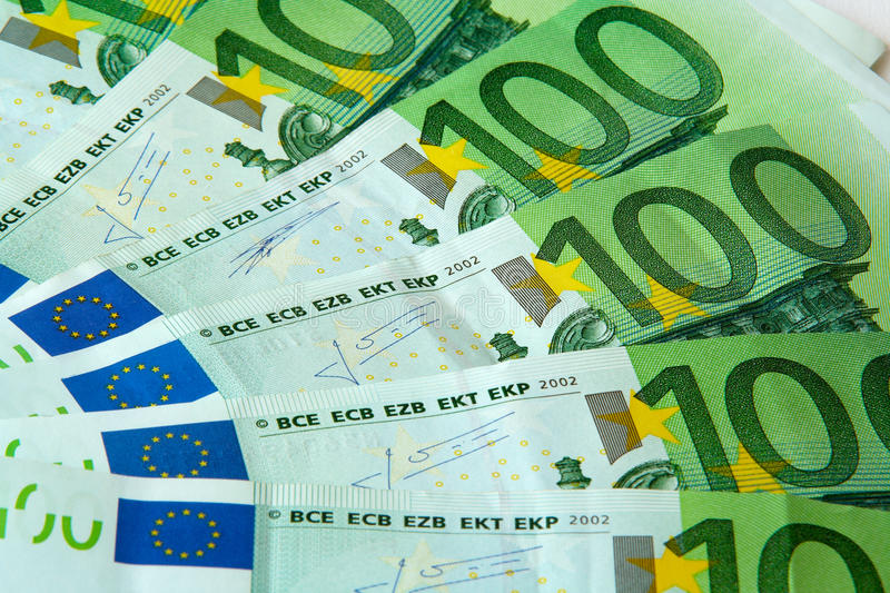 Download One Hundred Euro Nominal Banknotes Stock Image - Image: 10885439