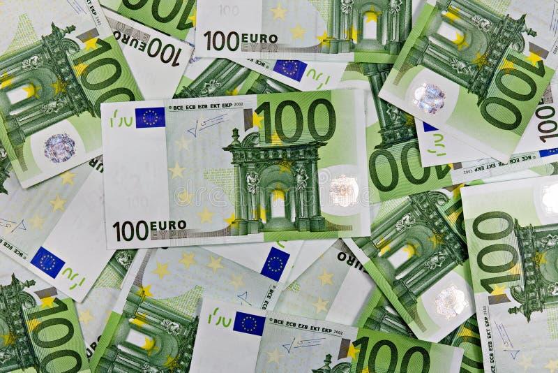 One Hundred Euros Background Royalty Free Stock Photos