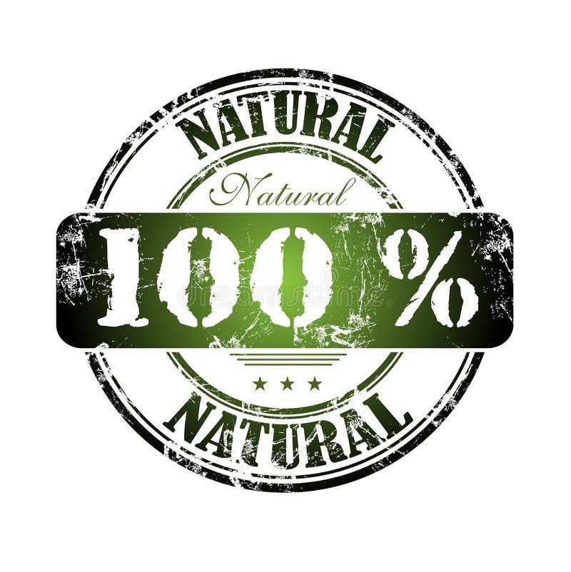 Download One Hundred Percent Natural Stock Vector - Illustration of label, damaged: 8179079
