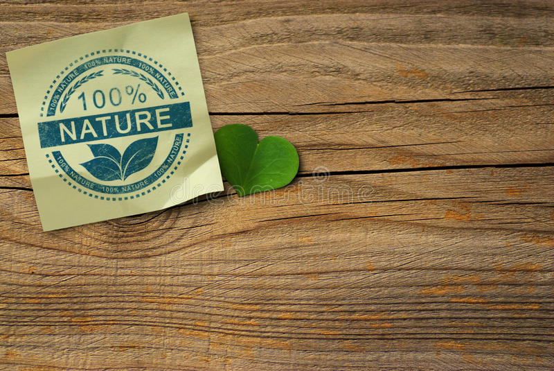 One Hundred Percent Nature Background royalty free stock photos