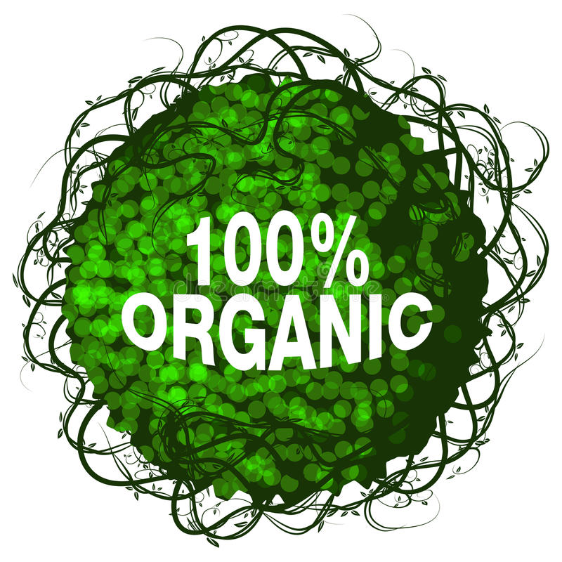 Download One Hundred Percent Organic Shrub Icon Stock Vector - Image: 29050760