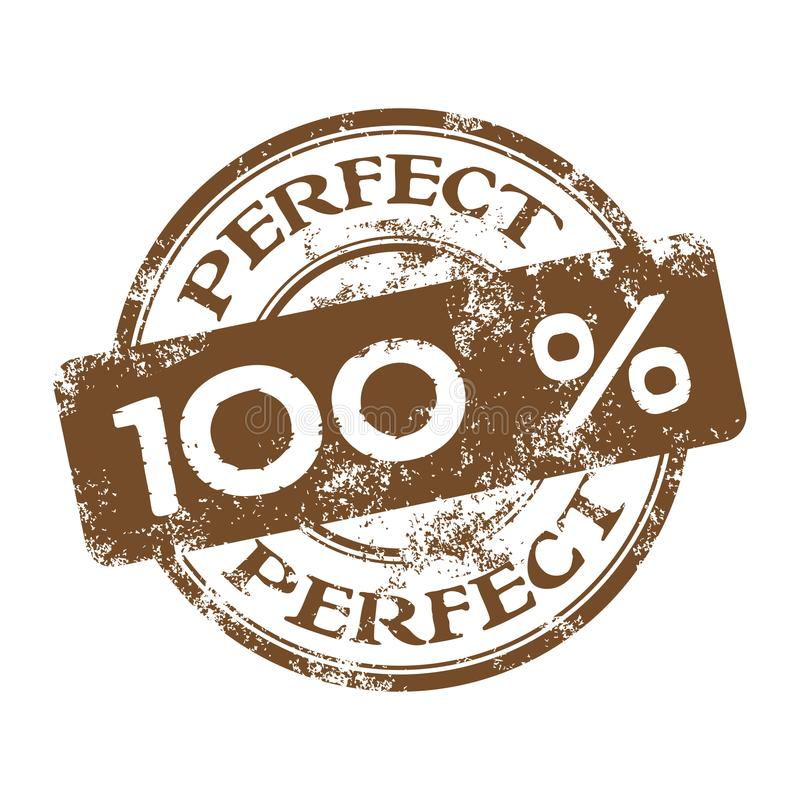 One hundred percent perfect rubber stamp royalty free stock images