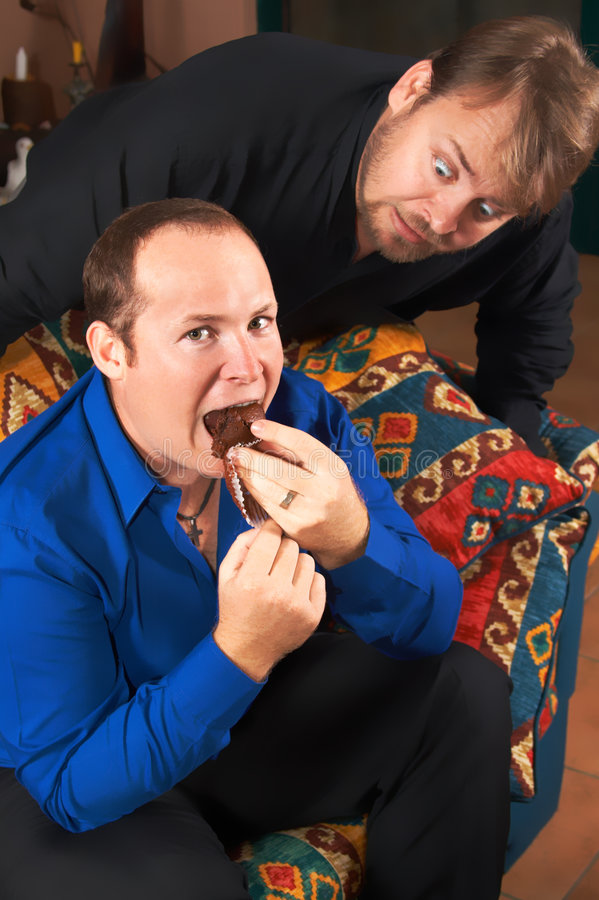 Download One hungry man staring stock image. Image of muffin, eyes - 2571059