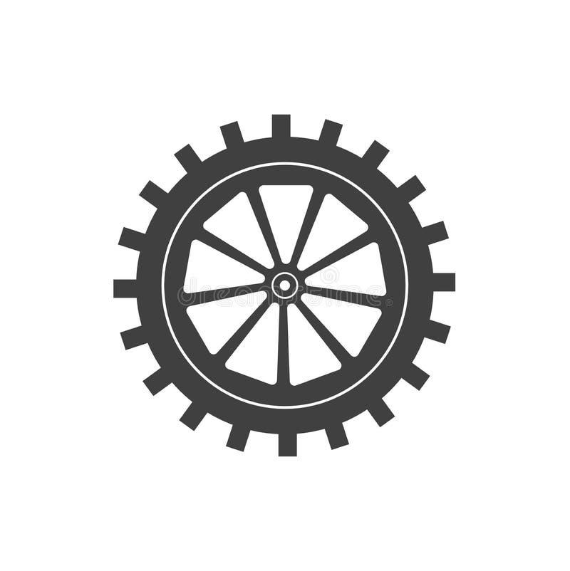 One icon settings installation stock illustration
