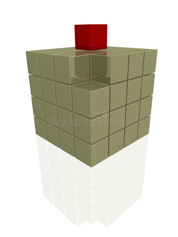 Download One individual red cube stock illustration. Illustration of shadow - 2308527