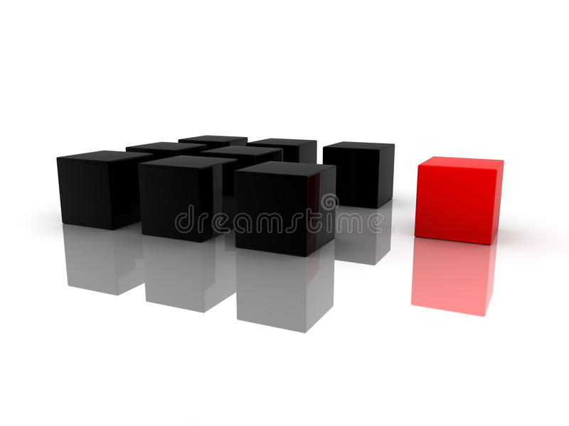 Download One Individuality Red Cube Stock Photos - Image: 16247013
