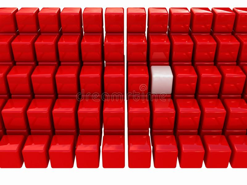 Download One Individuality White Cube Stock Illustration - Image: 21745052