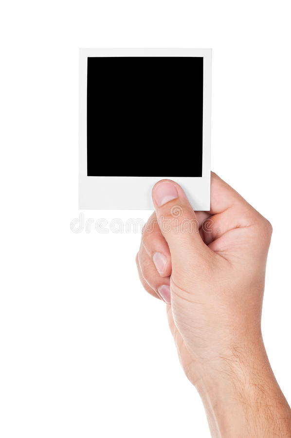 One Instant Photo In Hand Royalty Free Stock Image