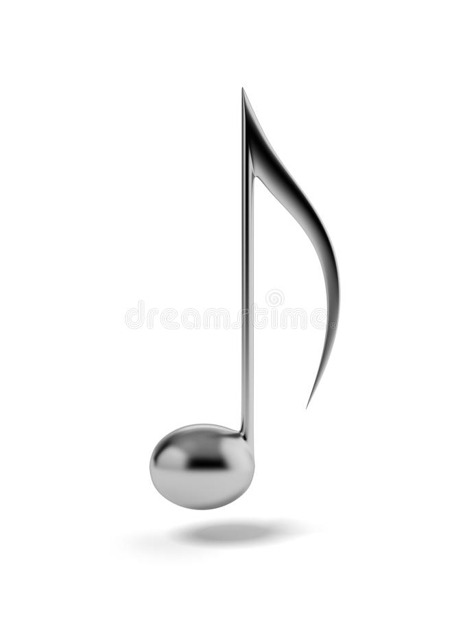 One iron music note royalty free illustration