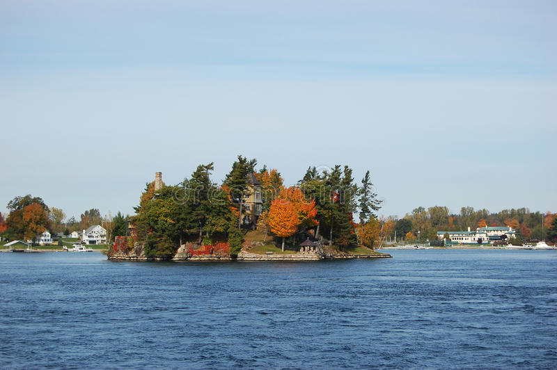 One Island In Thousand Islands Region, New York Stock Images