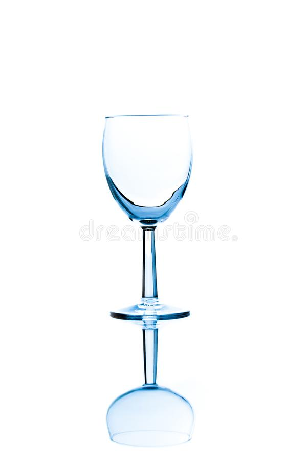 Empty red wine glass royalty free stock images
