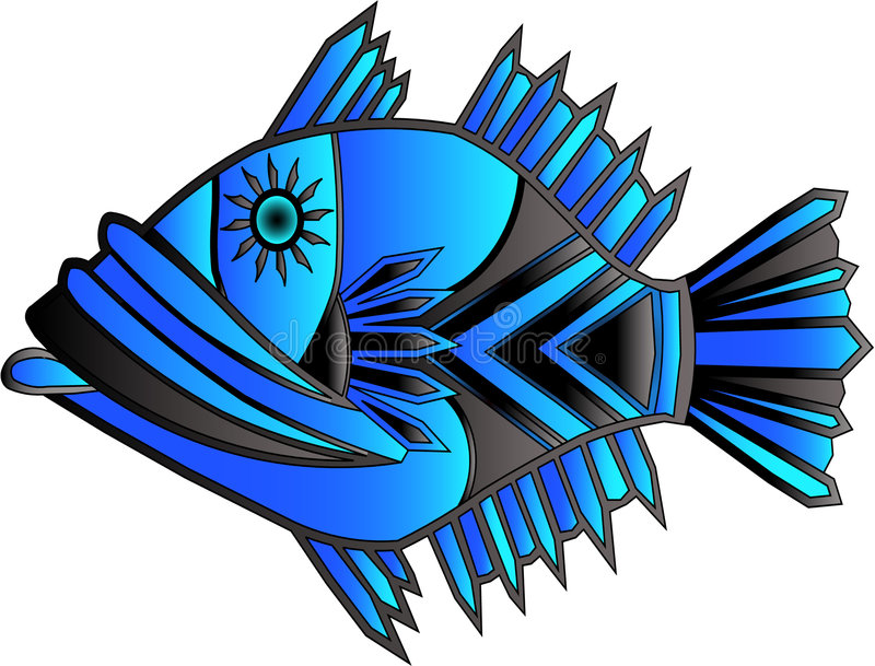 one of a kind fish stock image