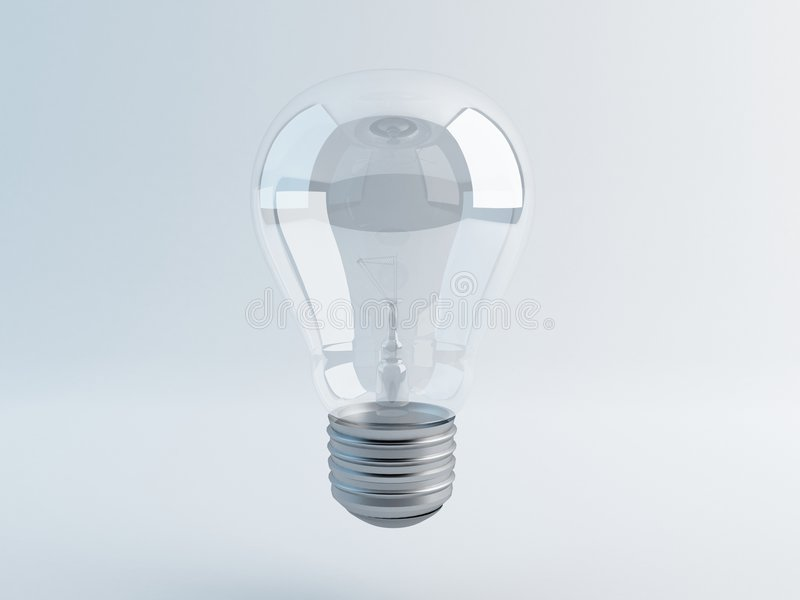 One lamp on gray background stock photo
