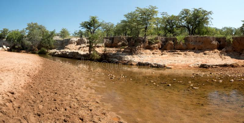 Landscape along the Kunene River, North Namibia. One Landscape along the Kunene River, North Namibia stock photo