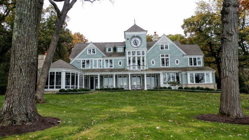 Large Mansion House, Shorepath, Lake Geneva, WI royalty free stock photos