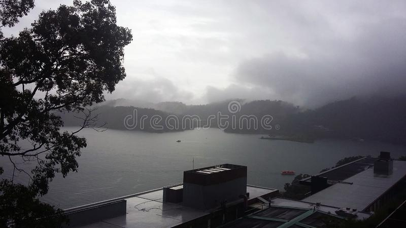 One of the largest lake in Formosa island stock photos