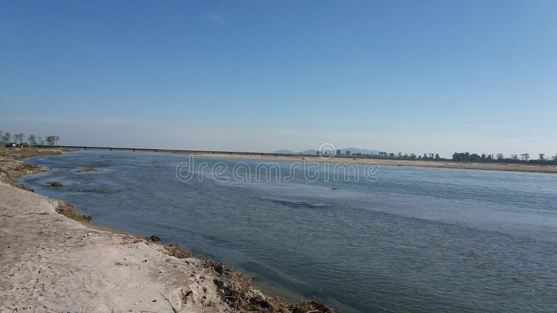 One of the largest river of India`s largest mighty river Brahmaputra stock images