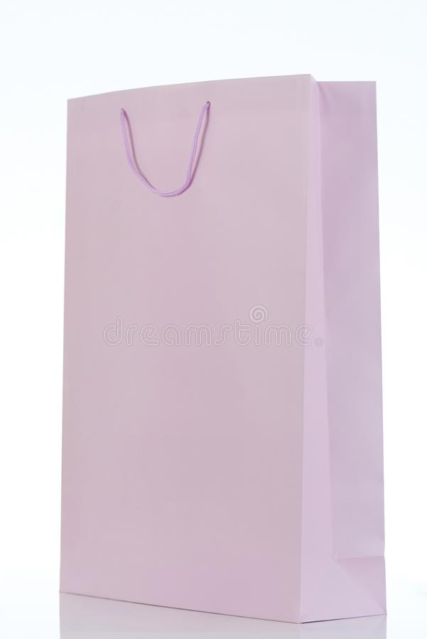 One light purple gift bag royalty free stock photography