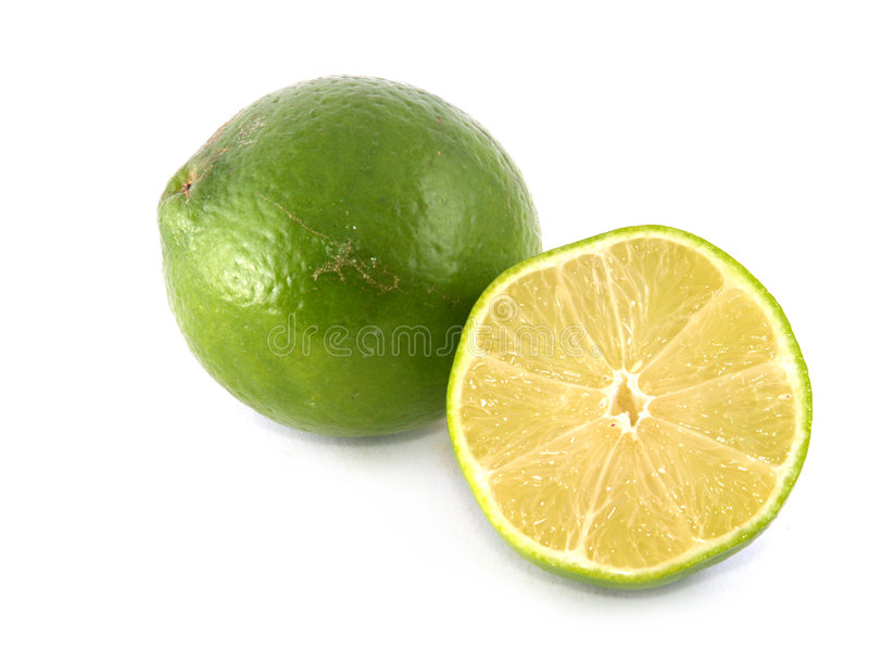 One lime and half royalty free stock photography