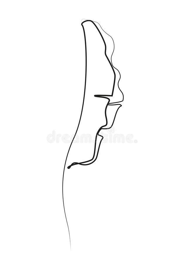 One line drawing. Contour drawing of Banana leaf. vector illustration