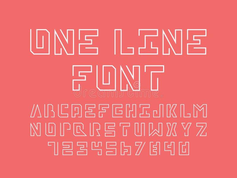One Line Font Art : One line font vector alphabet stock illustration