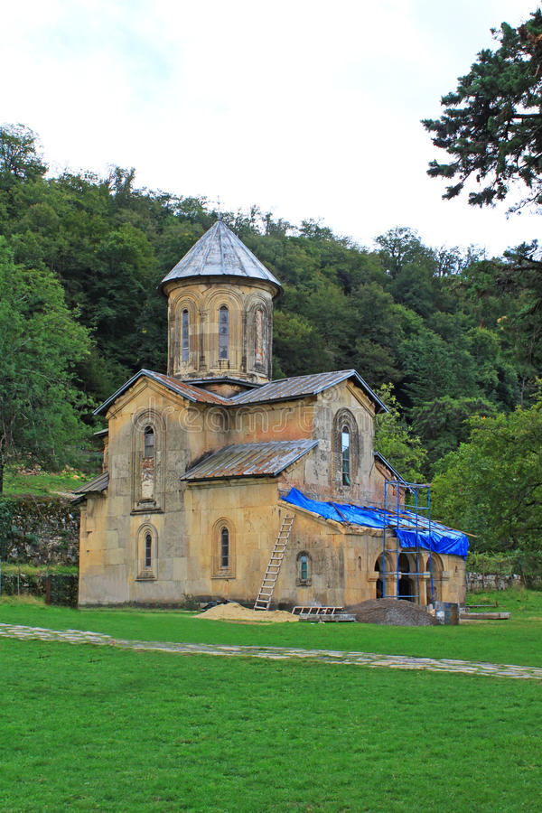 One little church of monastery Gelati stock photography