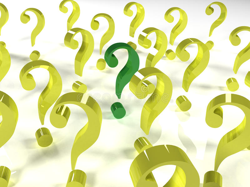 One main question stock photo