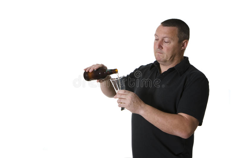 Download One man with beer stock image. Image of leisure, beer - 15419181