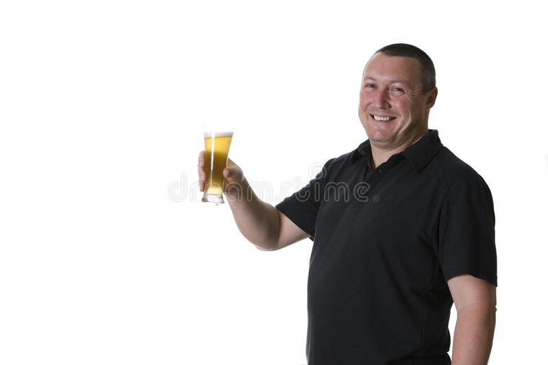 Download One man with beer stock photo. Image of living, lifestyles - 15419192