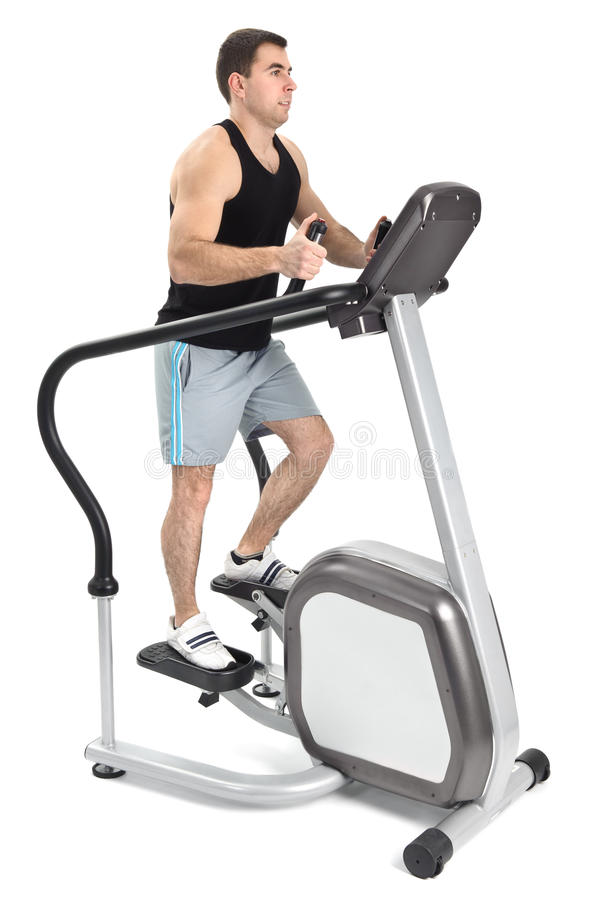 Download One Man Doing Step Machine Exercise Stock Photo - Image: 23000752