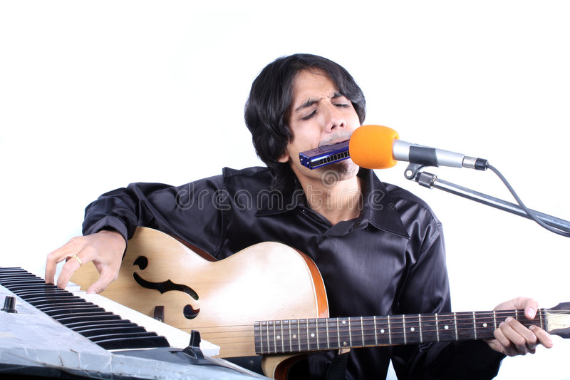 Download One Man Show stock image. Image of talented, music, tune - 8535851