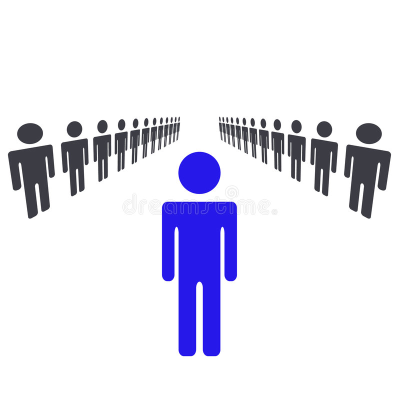 One Man Or Woman Being Leader vector illustration
