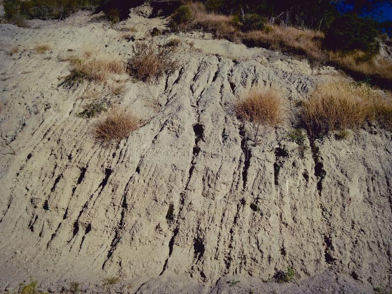 Natural textures. This is one of the many arid landscapes of Mérida Venezuela royalty free stock photos