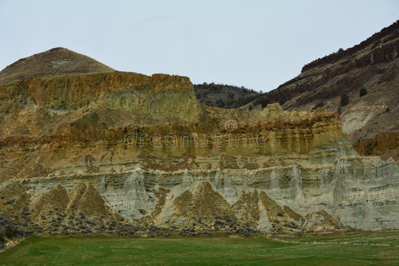 Rock Strata in Central Oregon royalty free stock photos